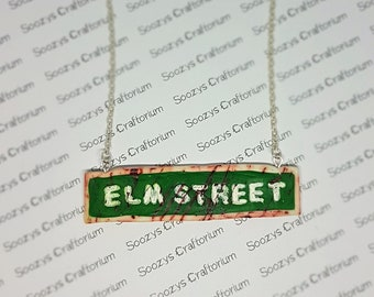 Elm Street Pendant Necklace. A Nightmare of Elm Street