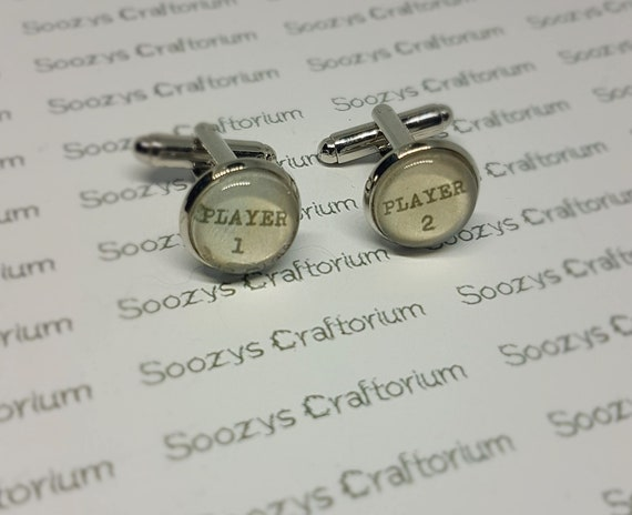 Player 1 and Player 2 Cufflinks
