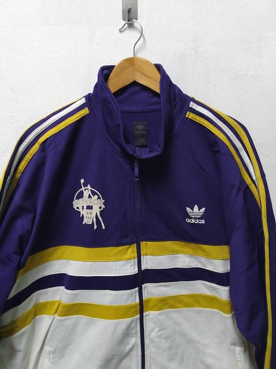 Adidas Kareem Abdul Jabbar Authentic Track Warmup Jacket NEW