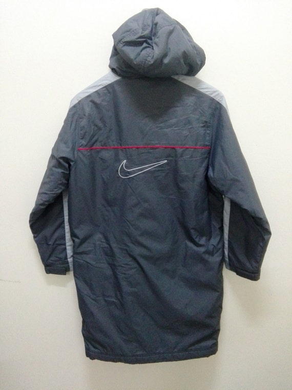 Size Parka Nike Jacket Coat Grey Long Etsy Football Alliance Oq01f