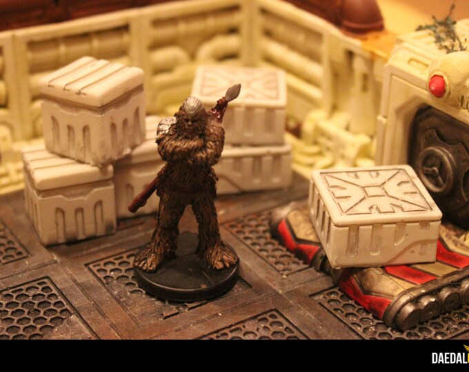 Featured listing image: crates pack for scifi tabletop miniature games like star wars legion infinity