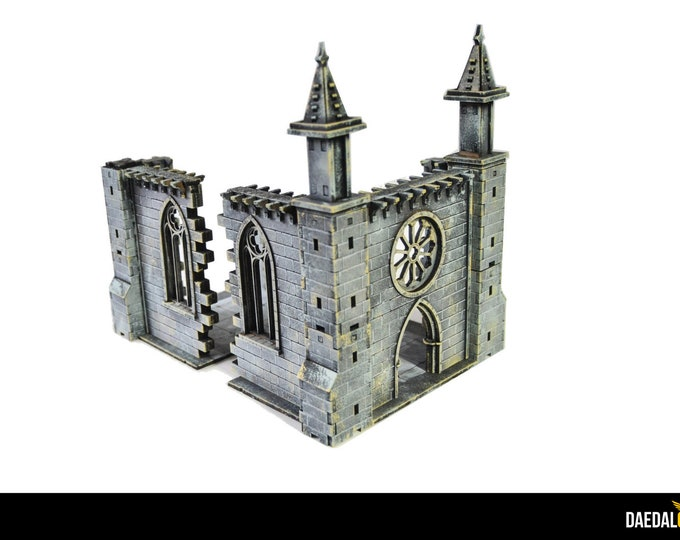 Featured listing image: Ruined chapel for warhammer mordheim frostgrave 28mm miniature