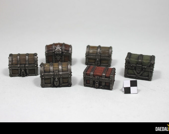Featured listing image: dungeons and dragons, Heroquest, dungeon saga Chests for tabletop miniatures games
