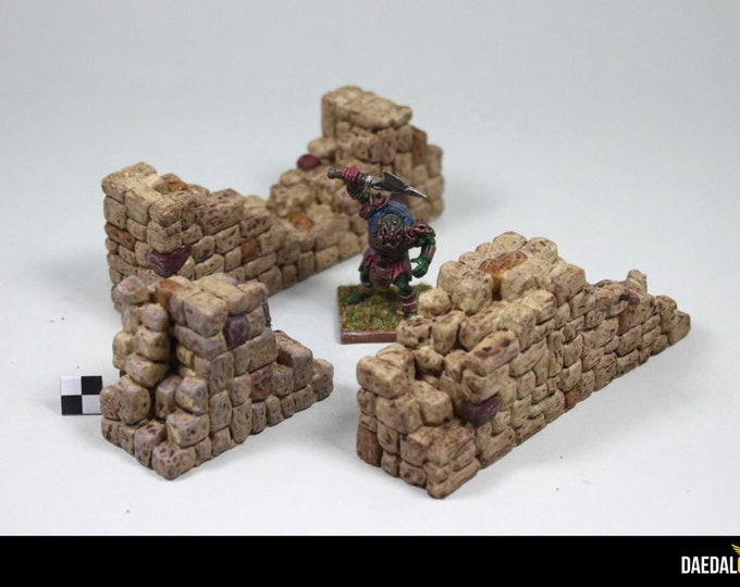 Dungeons and dragons ruined walls for fantasy tabletop miniatures games