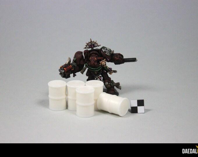 Set 10 small barrels for tabletop miniature games