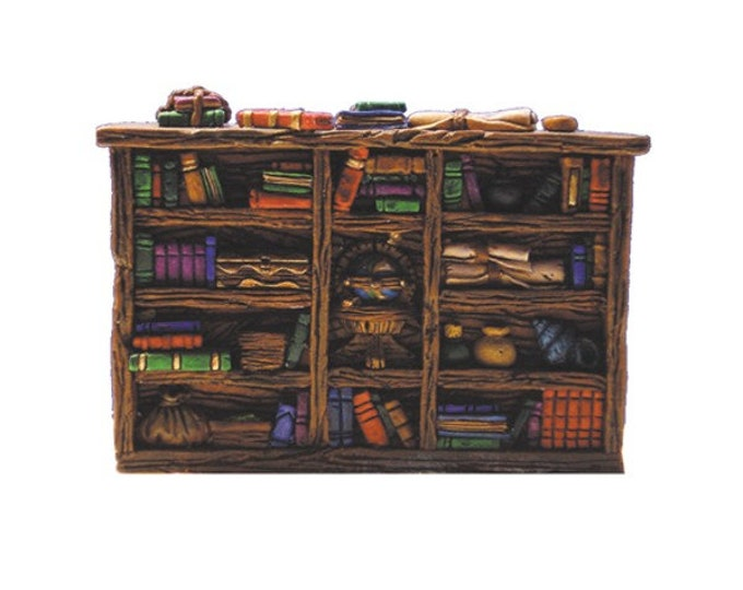 Miniature medieval library for dungeons and dragons, mordheim, warhammer fantasy miniature games