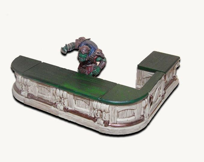 Miniature tavern bar for miniature figurine games warhammer pathfinder DnD