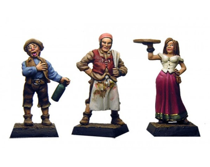 Set of 3 innkeeper figurines scale 28mm