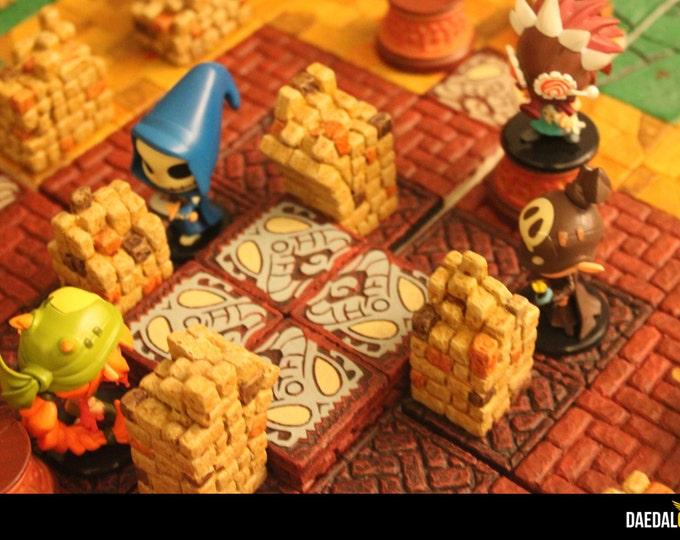 Krosmaster Arena 3D board game modular construction kit choose your 144 tiles as you want