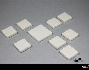 Hirst Arts - Dungeon tiles - Resin cast of cracked floor tiles #203 #204