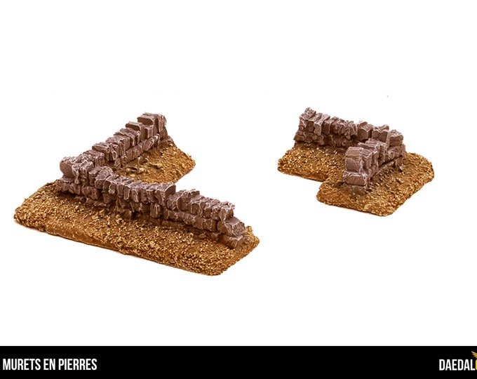 Corner of stone for tabletop miniature game 28mm like warhammer fantasy, mordheim