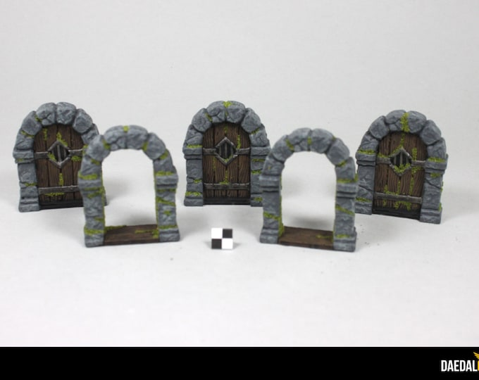 Dungeons and dragon, Zombicide, Gloomhaven five doors kit tabletop miniature gaming