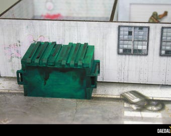 Dumpster for miniatures wargames and boargames