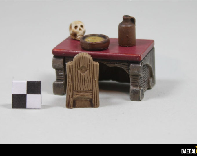 Dungeons and accessory dragons: Mage table for 28/32mm figurines