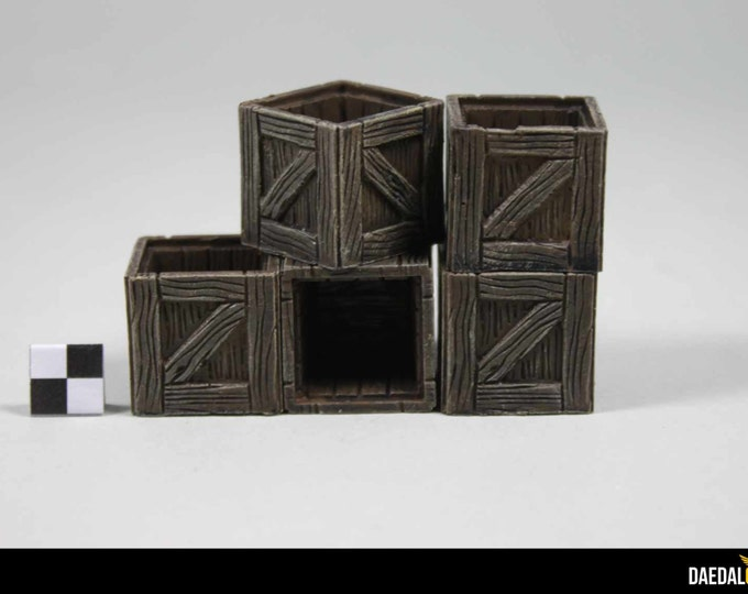 Dungeons and dragons hollow crates for miniature tabletop games