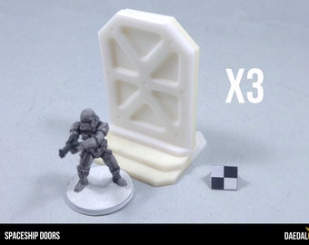 Space station doors for 28 / 32 mm scale miniature games space hulk- core space -star wars