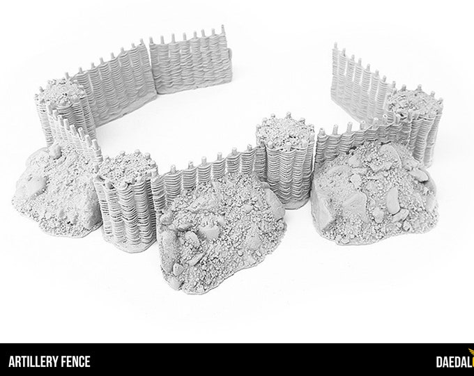 artillery fences for tabletop miniature games like dungeons and dragons, saga, mordheim
