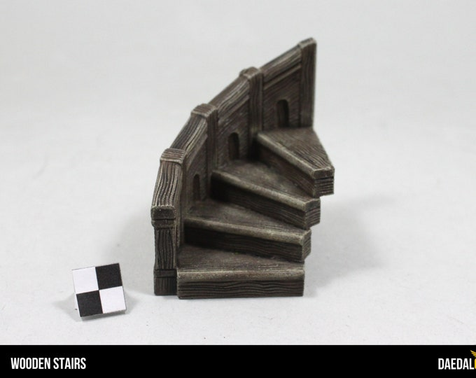 wooden stairs for tabletop miniature games like dungeons and dragons