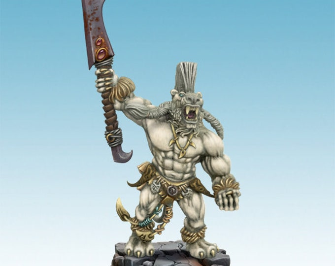 figurine Tigerian with two handed weapon