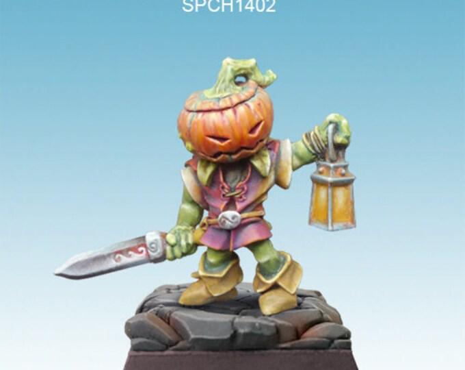 Pumpkin figurine : Dyniaq with lantern