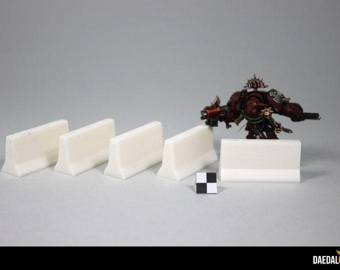 Warhammer 40k accessories : Concrete barrier pack (x5)