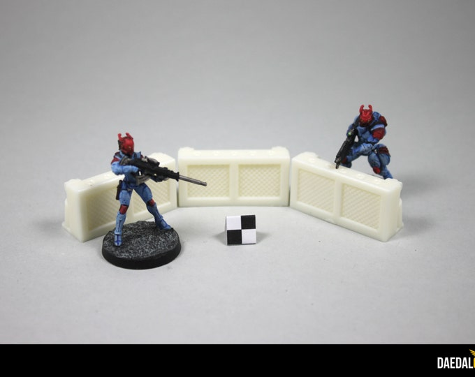 Warhammer 40k / infinity : Protection walls fo sci-fi or post apo tabletop miniature games
