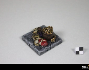 treasure objective marker for fantasy miniature games