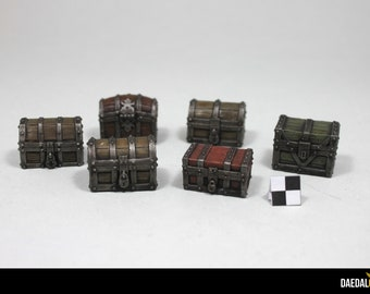dungeons and dragons, Heroquest, dungeon saga Chests for tabletop miniatures games