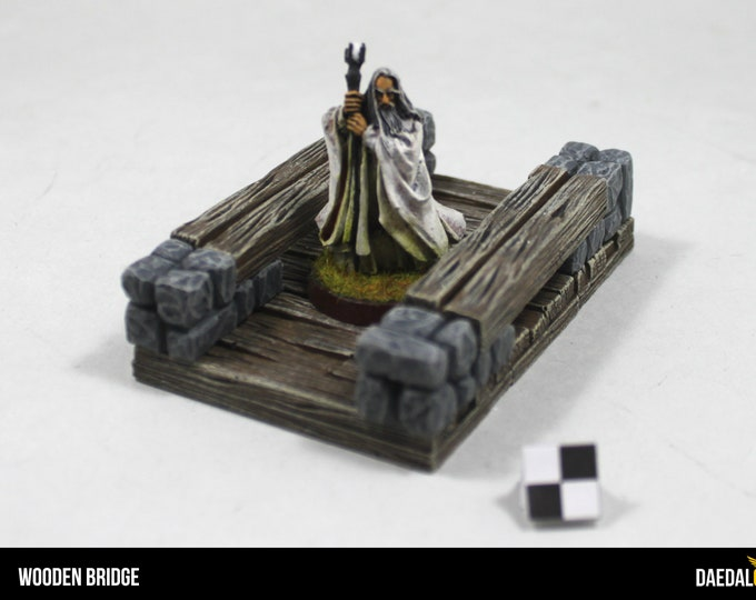 wooden bridge for tabletop miniature games like dungeons and dragons