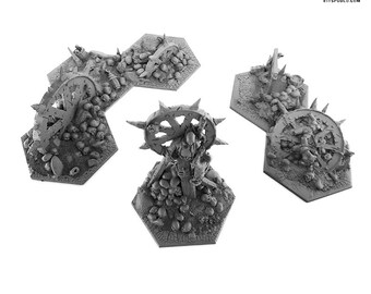Chaos terrain set for miniature games like Shadespire Warhammer