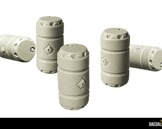 Barrels set (x10) for tabletop miniature game 28mm like warhammer 40k