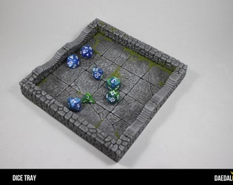 heroic fantasy dice tray (6 x 6 inch) dungeon tile