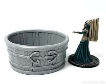 Baignoire médiévale décor pour jeux de figurines type donjons et dragons, gloomhaven, ranger of shadow deep, frostgrave