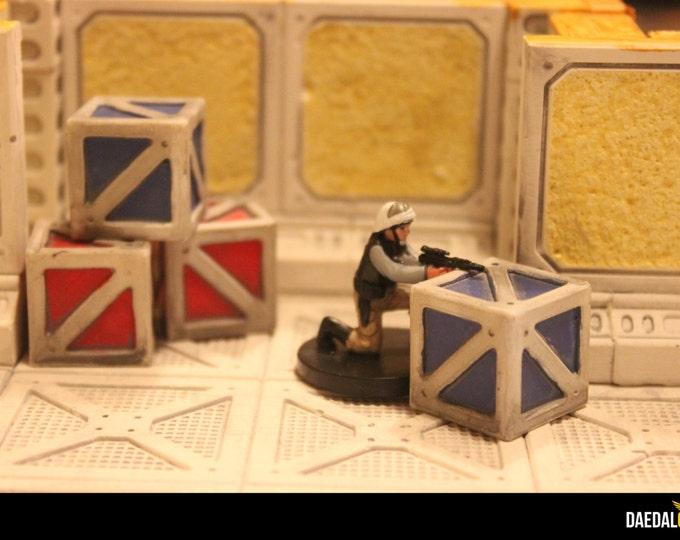 Star wars miniature : 9 crates pack for scifi tabletop games infinity, mercs, legions