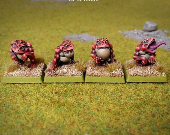 Ropuchons warriors (x4) 10mm figurines
