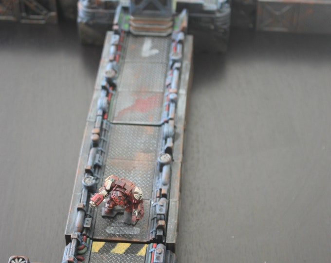 Space station corridor modules for 28 / 32 mm scale miniature games space hulk- core space -star wars