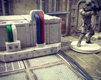 tabletop furniture for miniature games like star wars legion, infinity, space hulk