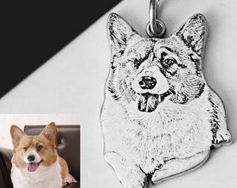 pet photo necklace etsy