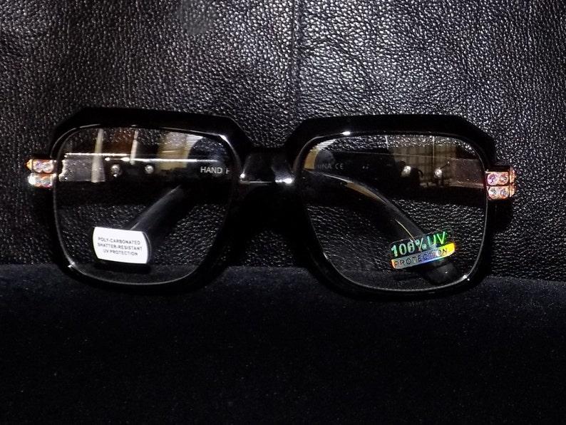 Frame Accessory Costume Secret Day Lense Glasses Gift Halloween Crystals Plastic Birthday Clear Swarovski Fashion Square J135TKulFc