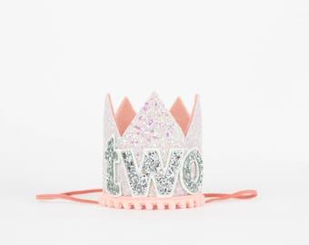 2nd Birthday Crown Glitter