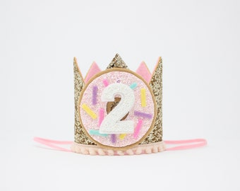 Donut 2nd Birthday Crown Girl