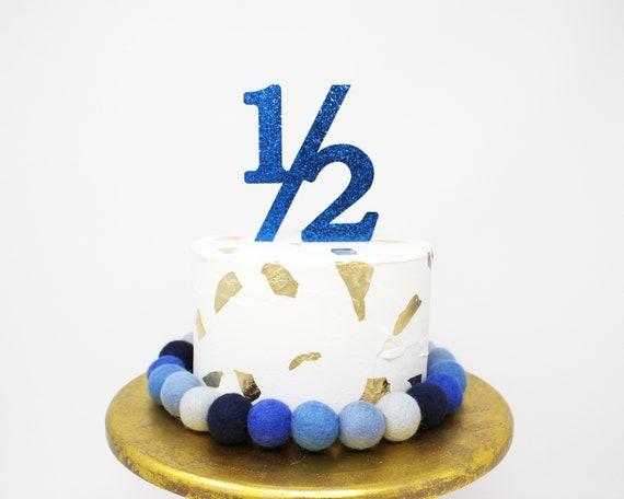 Surprising Half Birthday Cake Topper Half Birthday Topper Half Topper Etsy Personalised Birthday Cards Veneteletsinfo