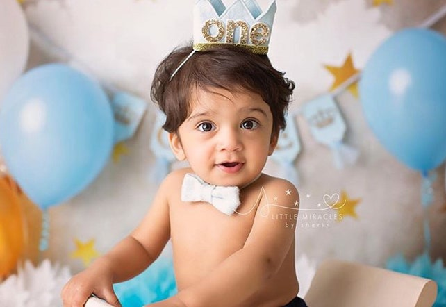 1st Birthday Boy Crown