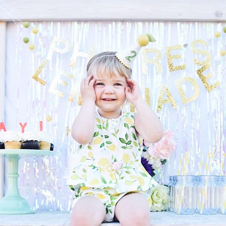 b5a3e5b68ab Lemon 2nd Birthday Party Hat 2nd Birthday Hat Girl 2nd
