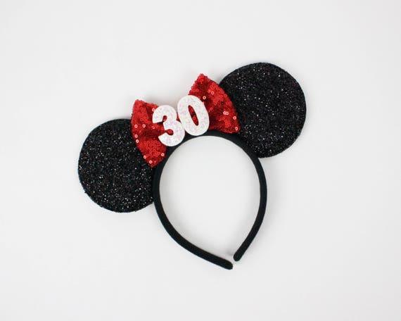 30 Geburtstag Minnie Ohren Minnie Mouse Geburtstag Ohren Etsy