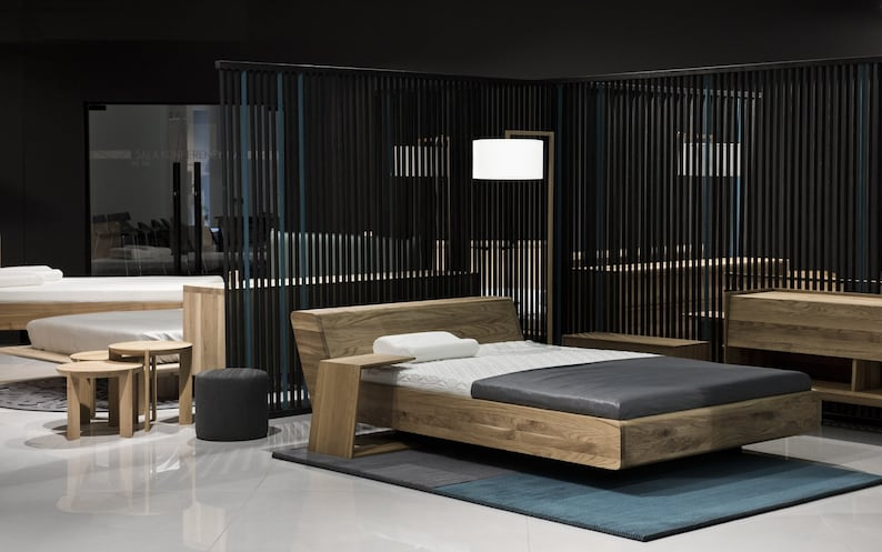 Bed 210 160.Mazzivo Exclusive Bed Lugo Outlet 160 X 210 Solid Alder Etsy