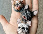 Pins (~3,5*3,5cm) Pug, French bulldog, English bulldog
