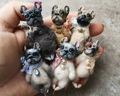 Small pins, pug and french bulldogs