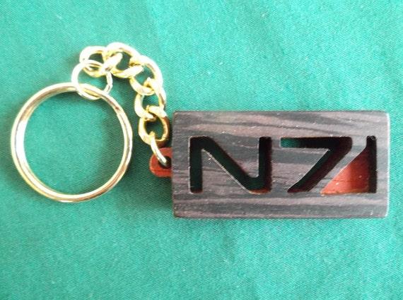 Mass Effect Key Chain N 7 Keyring Gift For Gamer Geeky Key Etsy