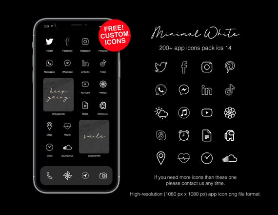 Minimal transparent white Neutral App icons Pack for IOS ...
